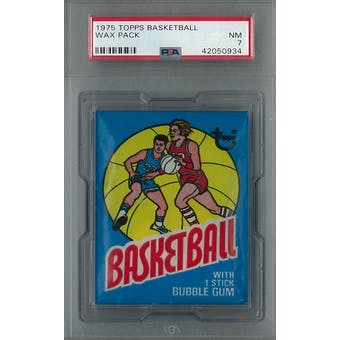 1975/76 Topps Basketball Wax Pack PSA 7 (NM) *0934 (Reed Buy)