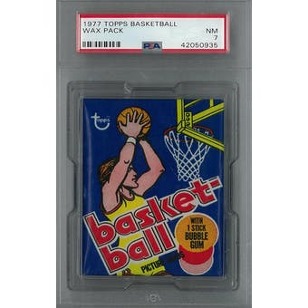 1976/77 Topps Basketball Wax Pack PSA 7 (NM) *0935 (Reed Buy)