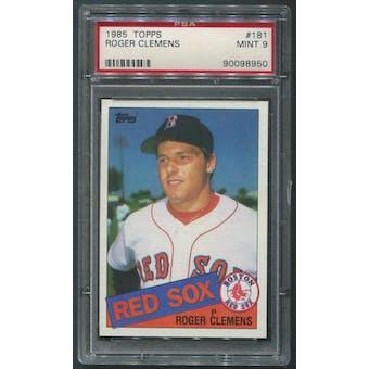 1985 Topps Baseball #181 Roger Clemens Rookie PSA 9 (MINT)