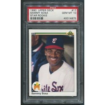 1990 Upper Deck Baseball #17 Sammy Sosa Rookie PSA 10 (GEM MT)