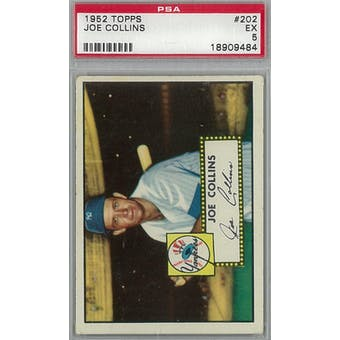 1952 Topps Baseball #202 Joe Collins PSA 5 (EX) *9484 (Reed Buy)