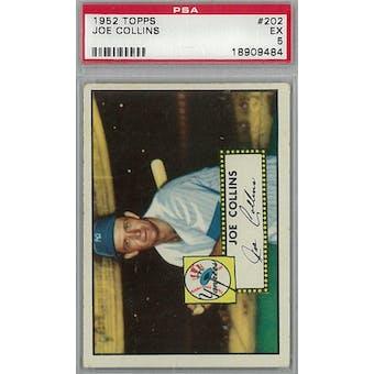 1952 Topps Baseball #202 Joe Collins PSA 5 (EX) *9484 (Reed Buy)