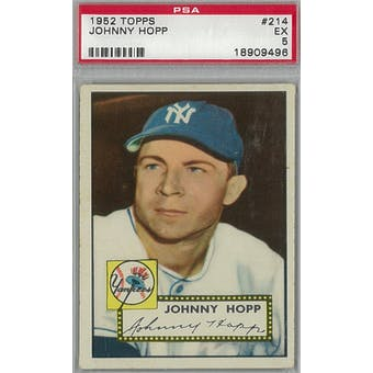 1952 Topps Baseball #214 Johnny Hopp PSA 5 (EX) *9496 (Reed Buy)