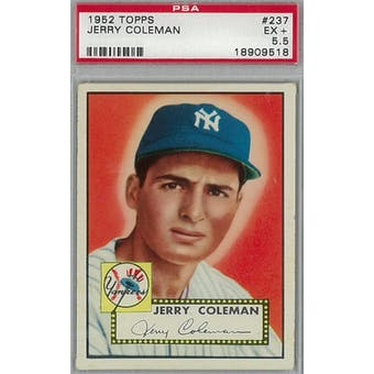 1952 Topps Baseball #237 Jerry Coleman PSA 5.5 (EX+) *9518 (Reed Buy)