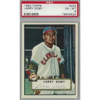 1952 Topps Baseball #243 Larry Doby PSA 6 (EX-MT) *9524 (Reed Buy)