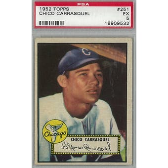 1952 Topps Baseball #251 Chico Carrasquel PSA 5 (EX) *9532 (Reed Buy)