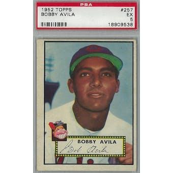1952 Topps Baseball #257 Bobby Avila PSA 5 (EX) *9538 (Reed Buy)