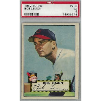 1952 Topps Baseball #268 Bob Lemon PSA 5 (EX) *9548 (Reed Buy)