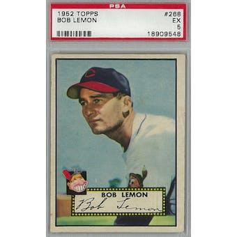 1952 Topps Baseball #268 Bob Lemon PSA 5 (EX) *9548 (Reed Buy)
