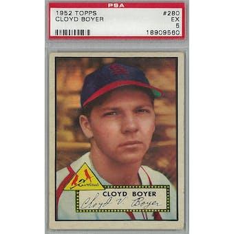 1952 Topps Baseball #280 Cloyd Boyer PSA 5 (EX) *9560 (Reed Buy)
