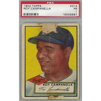 1952 Topps Baseball #314 Roy Campanella PSA 1 (Poor) *6697 (Reed Buy)