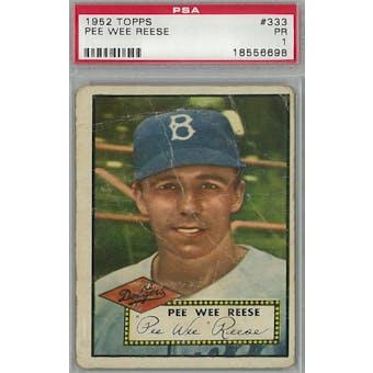 1952 Topps Baseball #333 Pee Wee Reese PSA 1 (Poor ) *6698 (Reed Buy)