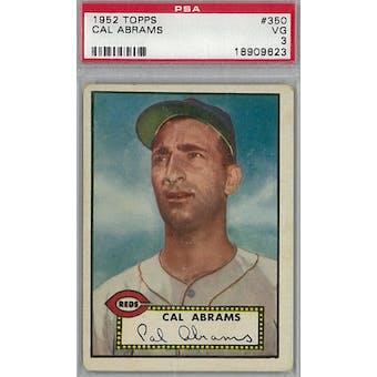 1952 Topps Baseball #350 Cal Abrams PSA 3 (VG) *9623 (Reed Buy)