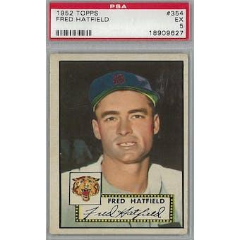 1952 Topps Baseball #354 Fred Hatfield PSA 5 (EX) *9627 (Reed Buy)