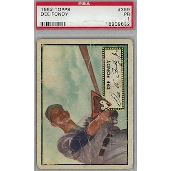1952 Topps Baseball #359 Dee Fondy PSA 1 (Poor) *9632 (Reed Buy)