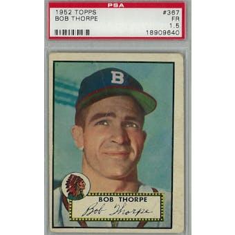 1952 Topps Baseball #367 Bob Thorpe PSA 1.5 (Fair) *9640 (Reed Buy)