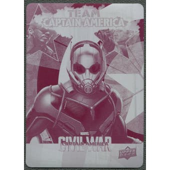 2016 Captain America Civil War #CAB5 Ant-Man Team Captain America Bios Printing Plate Magenta #1/1