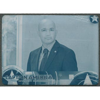 2014 Captain America The Winter Soldier #52 Learning That S.H.I.E.L.D. Compromised Printing Plate Cyan #1/1