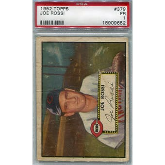 1952 Topps Baseball #379 Joe Rossi PSA 1 (Poor) *9652 (Reed Buy)