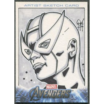 2012 Avengers Assemble Hawkeye Sketch Card #1/1