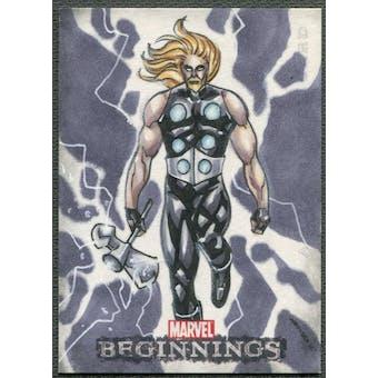 2012 Marvel Beginnings Series 3 Thor Sketch Card #1/1