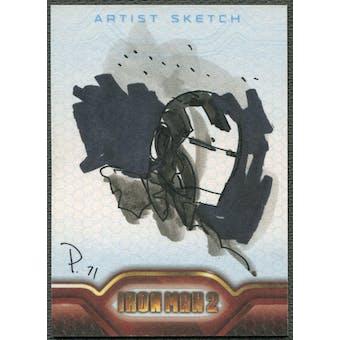 2010 Iron Man 2 Iron Man Sketch Card #1/1