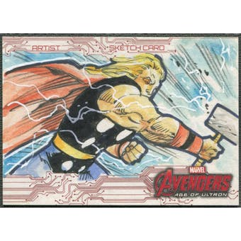 2015 Avengers Age Of Ultron Thor Sketch Card #1/1