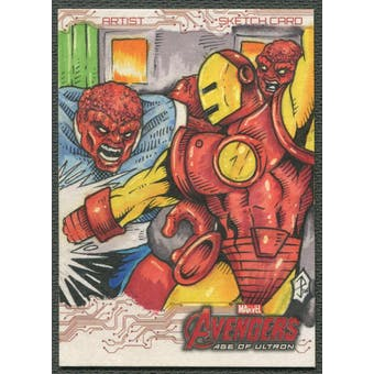 2015 Avengers Age Of Ultron Iron Man Sketch Card #1/1