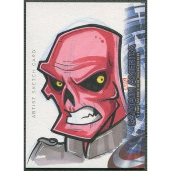 2014 Captain America The Winter Soldier Red Skull Sketch Card #1/1