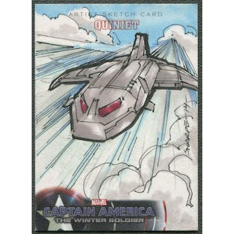 2014 Captain America The Winter Soldier Quinjet Sketch Card #1/1