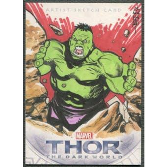 2013 Thor The Dark World Hulk Sketch Card #1/1