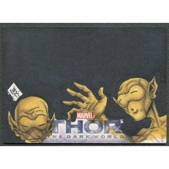 2013 Thor The Dark World Mole Men Sketch Card #1/1
