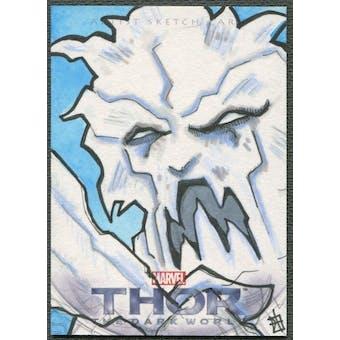 2013 Thor The Dark World Ymir Frost Giant Sketch Card #1/1