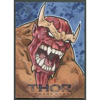 2013 Thor The Dark World Surtur Sketch Card #1/1