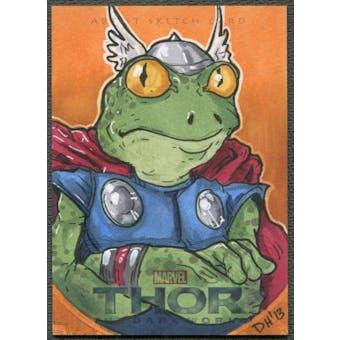 2013 Thor The Dark World Frog Thor Throg Sketch Card #1/1