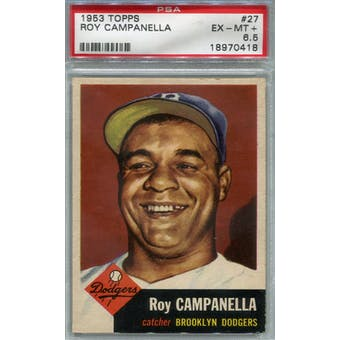 1953 Topps Baseball #27 Roy Campanella PSA 6.5 (EX-MT+) *0418 (Reed Buy)