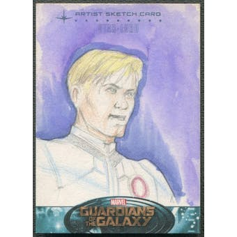 2014 Guardians Of The Galaxy Star Lord Sketch Card #1/1