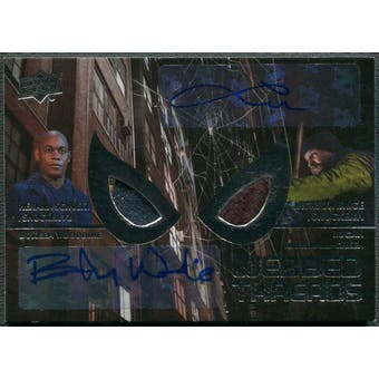 2017 Spider-Man Homecoming #WTAD3 Bokeem Woodbine & Logan Marshall-Green Webbed Threads Auto