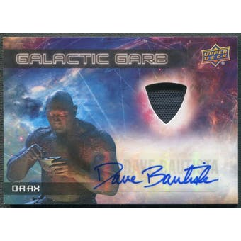 2017 Guardians of the Galaxy Vol. 2 #SMA2 Dave Bautista as Daax Galactic Garb Auto