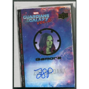 2017 Guardians of the Galaxy Vol. 2 #MT2 Zoe Saldana as Gamora Mix Tape Auto