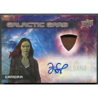 2017 Guardians of the Galaxy Vol. 2 #SMA5 Zoe Saldana as Gamora Galactic Garb Auto