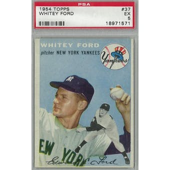 1954 Topps Baseball  #37 Whitey Ford PSA 5 (EX) *1571 (Reed Buy)