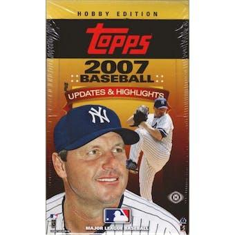 2007 Topps Updates & Highlights Baseball Hobby Box