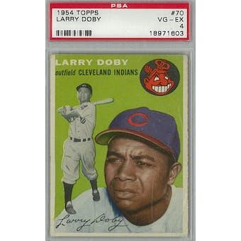 1954 Topps Baseball #70 Larry Doby PSA 4 (VG-EX) *1603 (Reed Buy)