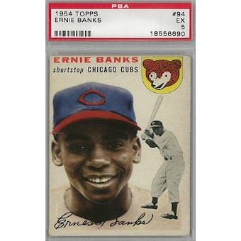 1954 Topps Baseball #94 Ernie Banks RC PSA 5 (EX) *6690 (Reed Buy)