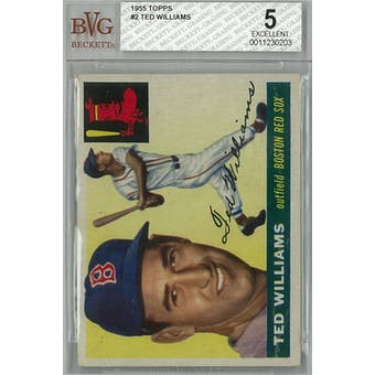 1955 Topps Baseball  #2 Ted Williams BVG 5 (EX) *0203 (Reed Buy)