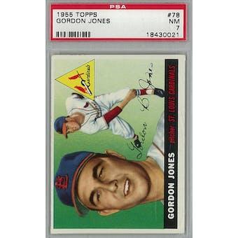 1955 Topps Baseball #78 Gordon Jones PSA 7 (NM) *0021 (Reed Buy)