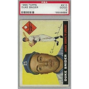 1955 Topps Baseball #210 Duke Snider PSA 2 (Good) *6686 (Reed Buy)