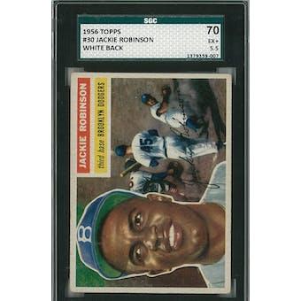 1956 Topps Baseball #30 Jackie Robinson WB SGC 70 (EX+) *9007 (Reed Buy)