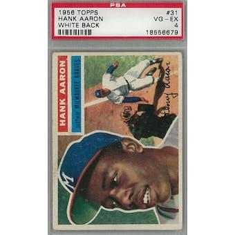 1956 Topps Baseball #31 Hank Aaron WB PSA 4 (VG-EX) *6679 (Reed Buy)